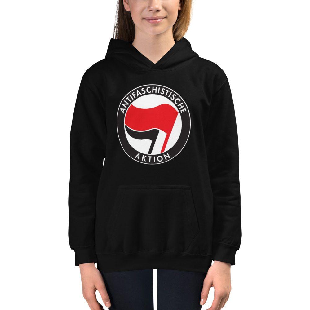 Antifa Antifaschistische Aktion Flag Kids Hoodie