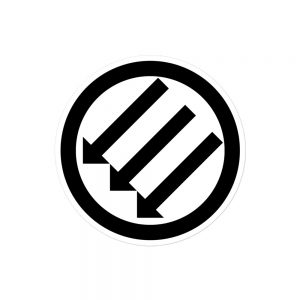 Antifa Iron Front 3 Arrows Bubble-free Stickers