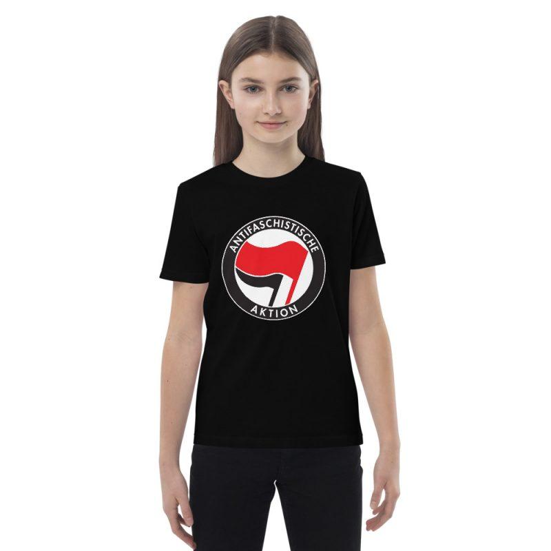 Antifa Antifaschistische Aktion Flag Organic Cotton Kids T-shirt