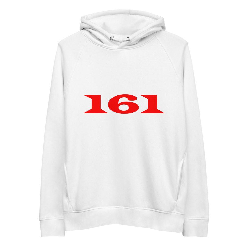 161 Red Unisex Organic Pullover Hoodie