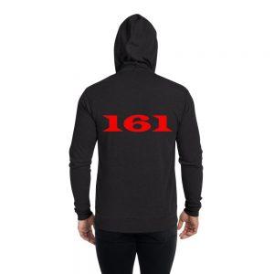 161 Red Unisex Zip Hoodie