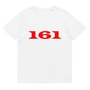 161 Red Unisex Organic Cotton T-shirt