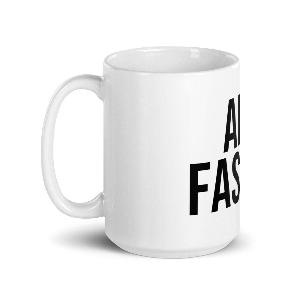Anti-Fascist White Glossy Mug