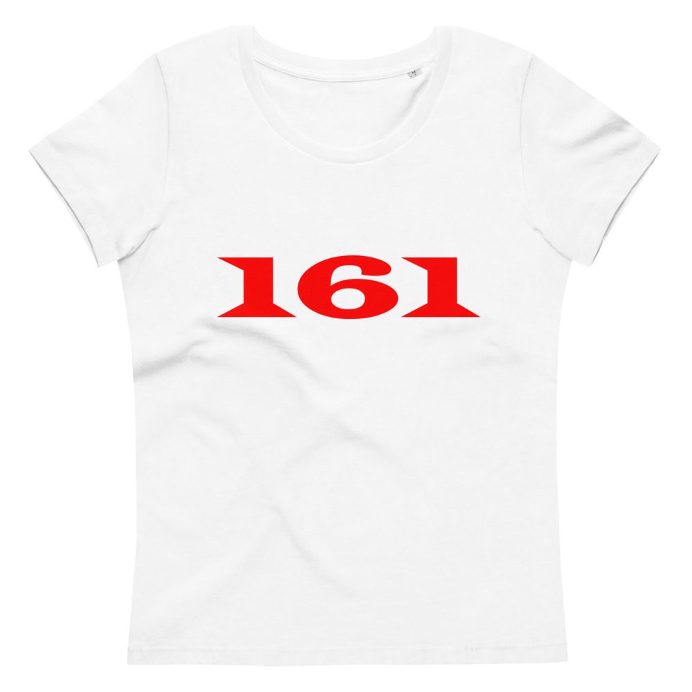161 Red Women's Fitted Organic T-shirt