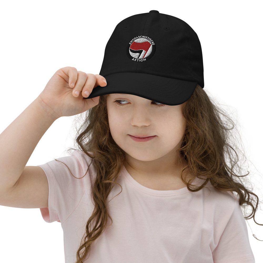 Antifa Antifaschistische Aktion Flag Kids Baseball Cap