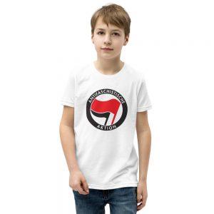 Antifa Antifaschistische Aktion Flag Kids Short Sleeve T-Shirt