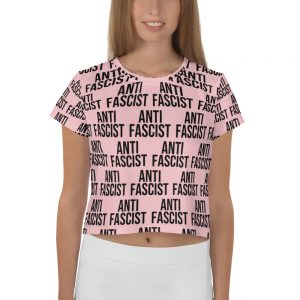 Anti-Fascist Crop T-shirt