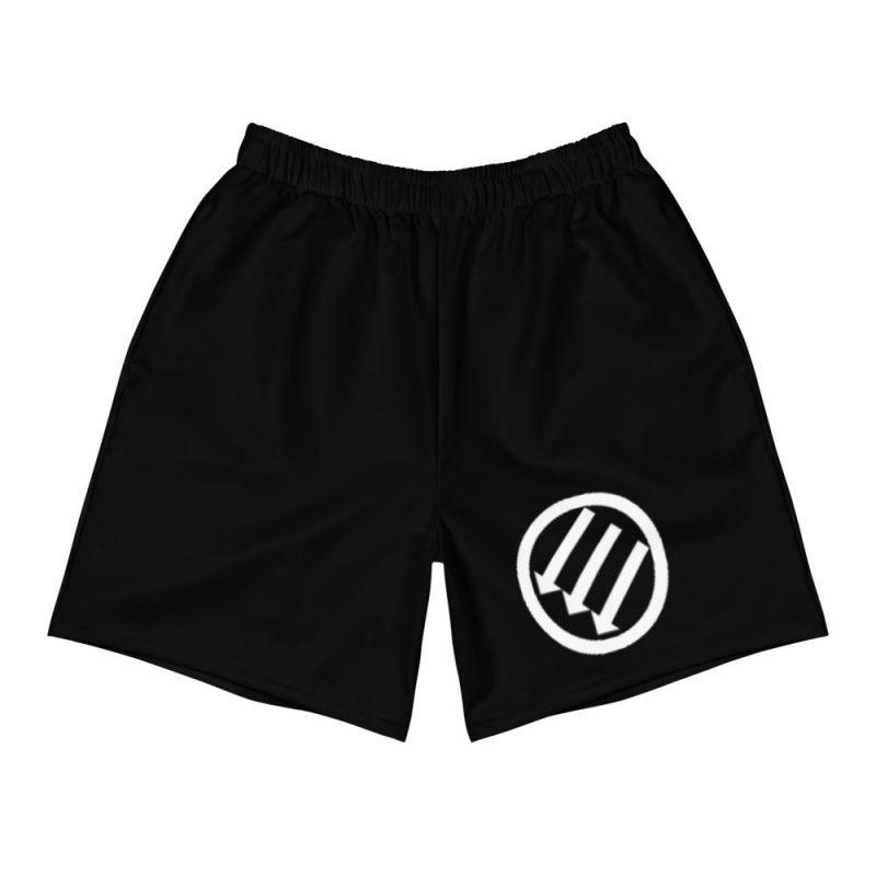 Antifa Iron Front 3 Arrows Black Men's Long Shorts