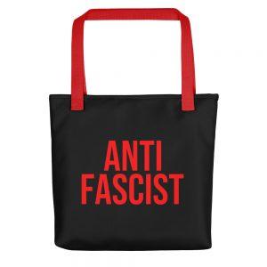Anti-Fascist Red Tote Bag