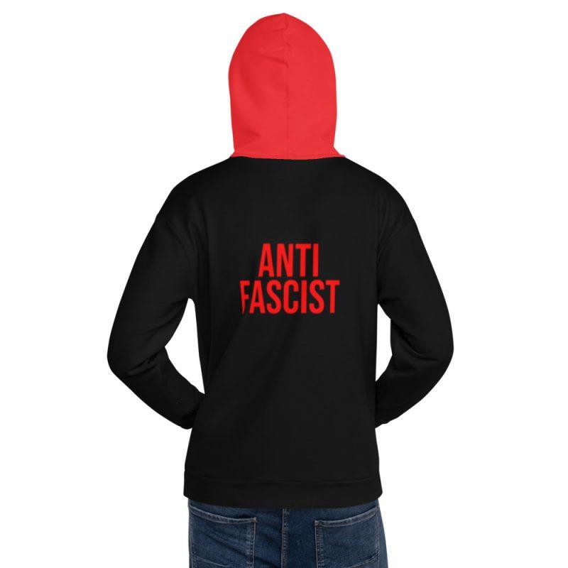 Anti-Fascist Red Unisex Hoodie