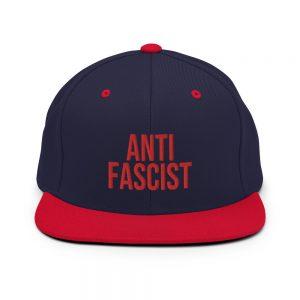 Anti-Fascist Red Snapback Hat