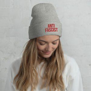Anti-Fascist Red Cuffed Beanie