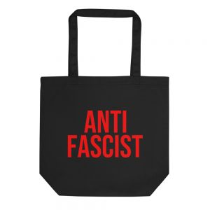 Anti-Fascist Red Organic Tote Bag