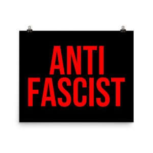 Anti-Fascist Red Poster