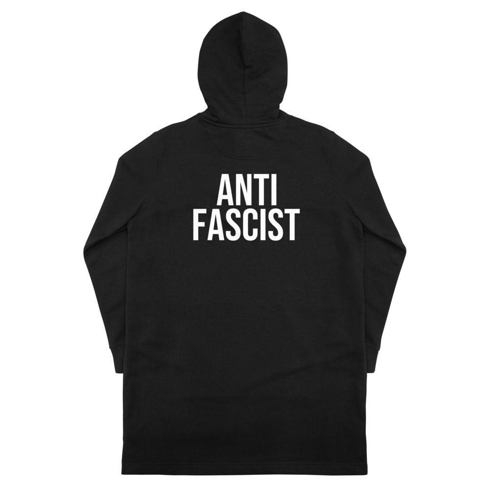 Anti-Fascist Organic Hoodie Dress