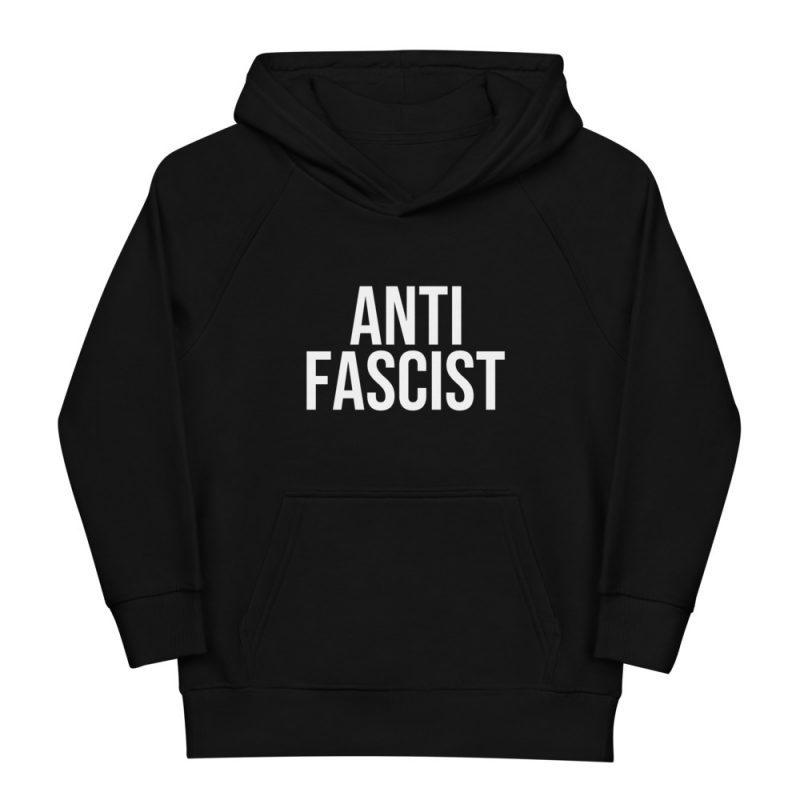 Anti-Fascist Kids Organic Hoodie