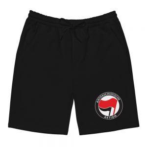 Antifa Antifaschistische Aktion Flag Men's Fleece Shorts