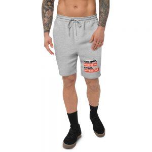 Sometimes Antisocial Always Antifascist Men's Fleece Shorts