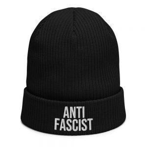 Anti-Fascist Organic Ribbed Beanie