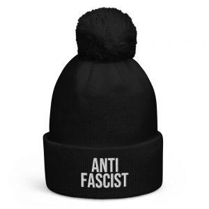 Anti-Fascist Pom Pom Beanie