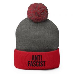 Anti-Fascist Pom-Pom Beanie