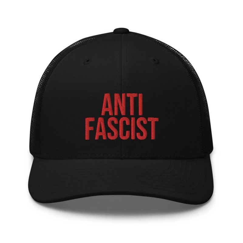 Anti-Fascist Red Retro Trucker Cap