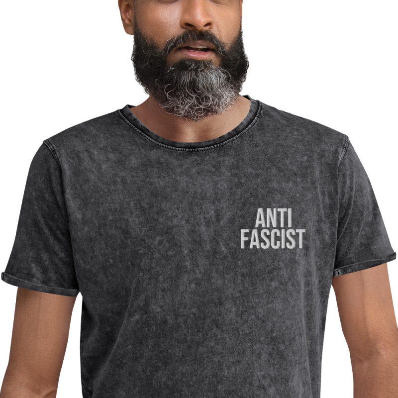 Anti-Fascist Denim T-Shirt