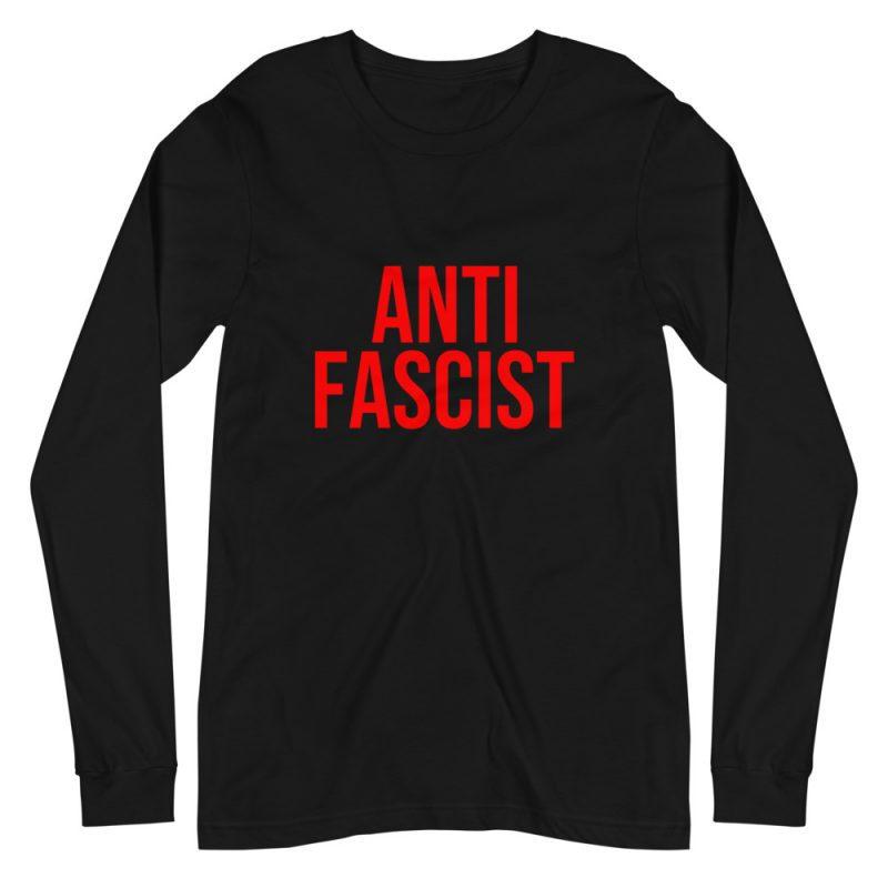 Anti-Fascist Red Unisex Long Sleeve T-Shirt