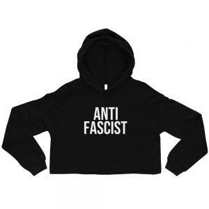 Anti-Fascist Crop Hoodie