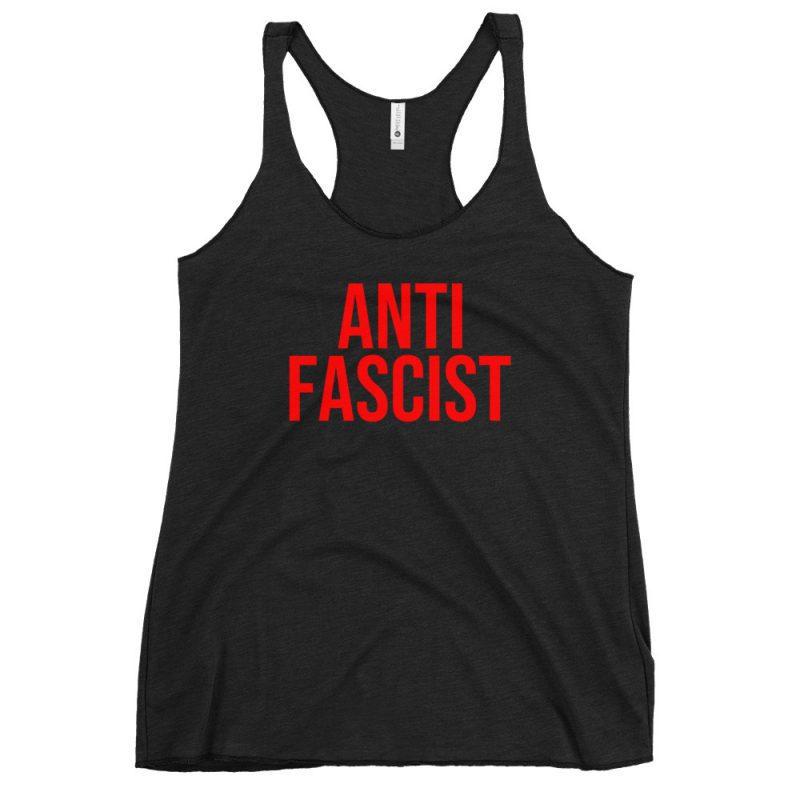 Anti-Fascist Red Women's Racerback Tank/Vest