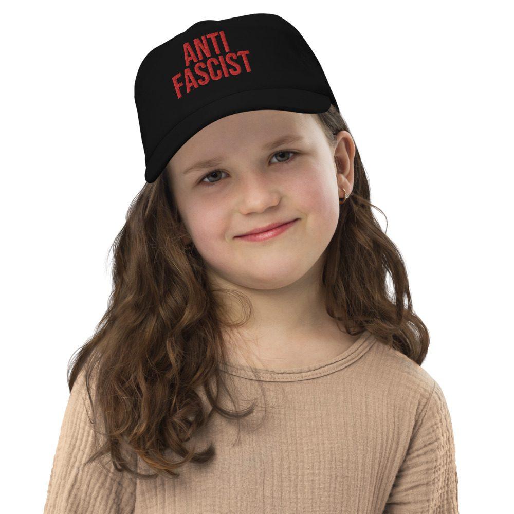 Anti-Fascist Red Kids Cap