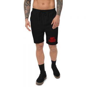 Anti-Fascist Red Men's Fleece Shorts
