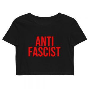 Anti-Fascist Red Organic Crop Top