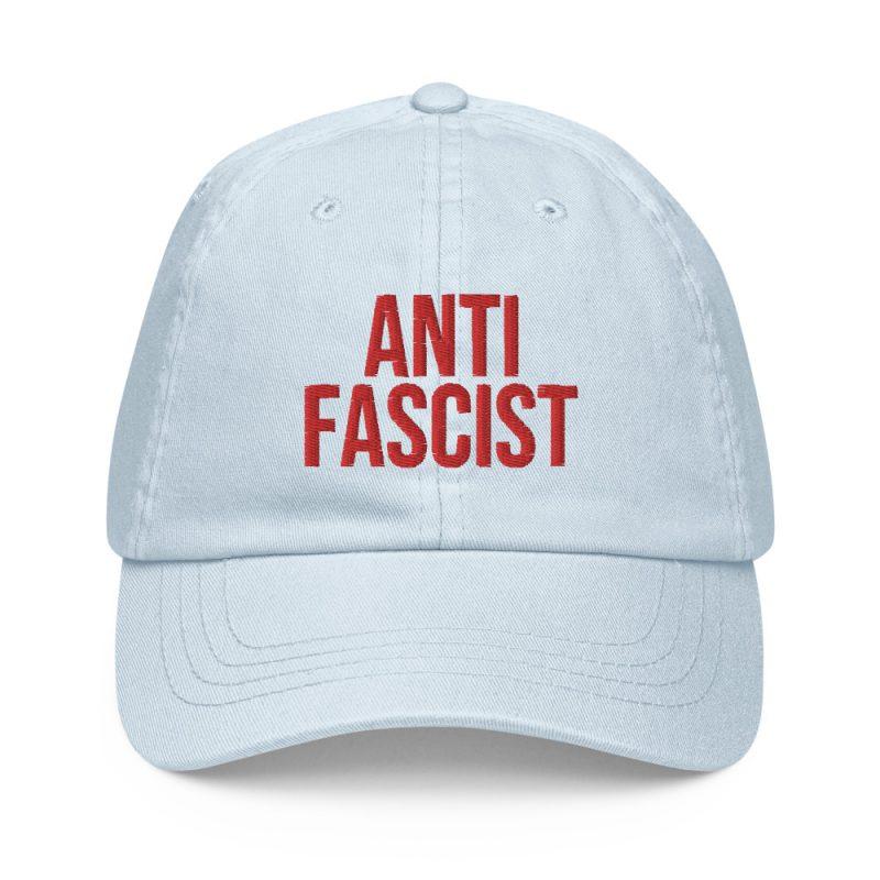 Anti-Fascist Red Pastel Baseball Hat
