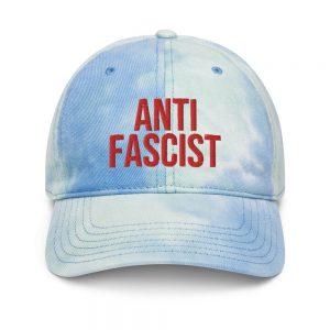 Anti-Fascist Red Tie Dye Hat