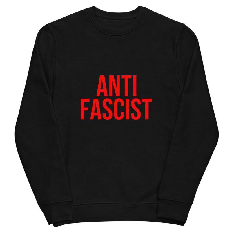 Anti-Fascist Red Unisex Organic Sweatshirt
