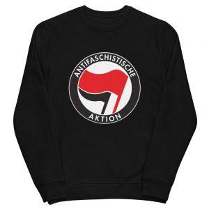 Antifa Antifaschistische Aktion Flag Unisex Organic Sweatshirt