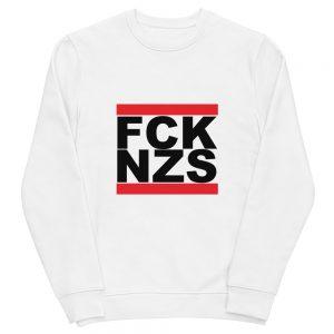 FCK NZS Black Unisex Organic Sweatshirt