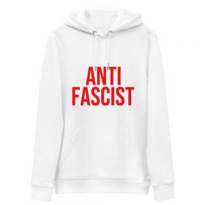 Anti-Fascist Red Unisex Organic Hoodie
