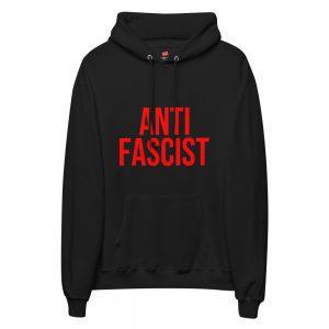 Anti-Fascist Red Unisex Fleece Hoodie