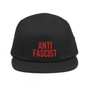 Anti-Fascist Red Five Panel Cap