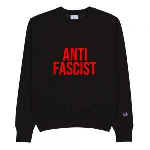 Anti-Fascist Red Champion Sweatshirt