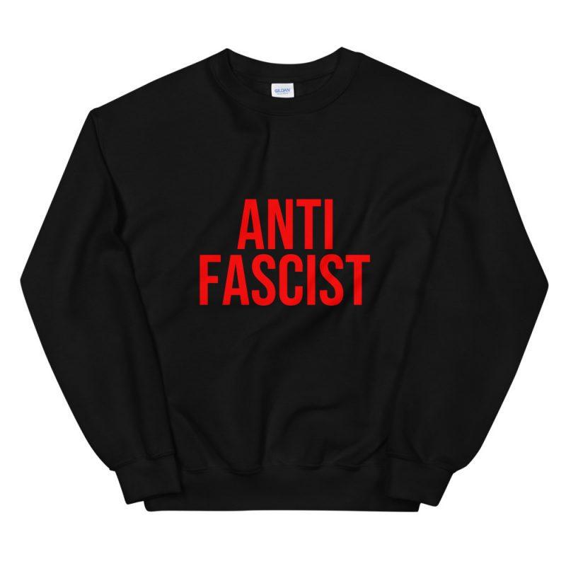 Anti-Fascist Red Unisex Sweatshirt