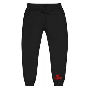 Anti-Fascist Red Unisex Fleece Sweatpants