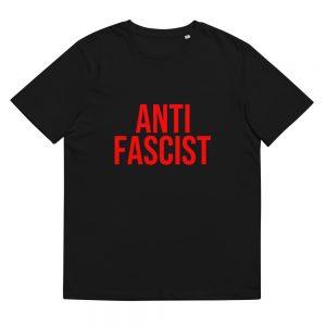 Anti-Fascist Red Unisex Organic Cotton T-shirt