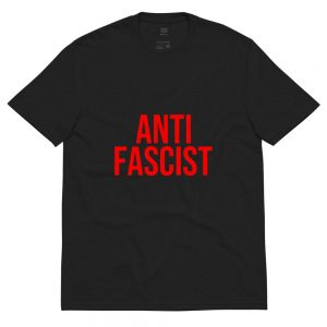 Anti-Fascist Red Unisex Recycled T-shirt