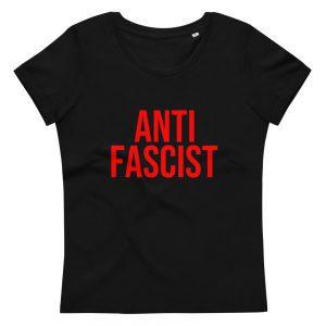 Anti-Fascist Red Women's Fitted Organic T-shirt