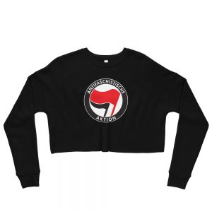 Antifa Antifaschistische Aktion Flag Crop Sweatshirt